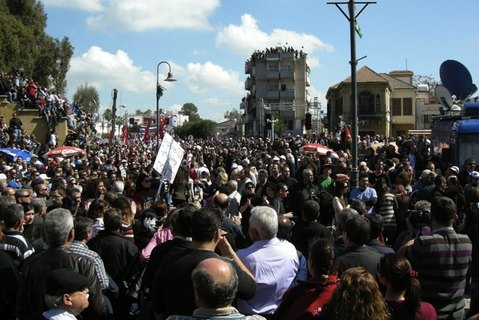 demonstration in cyprus