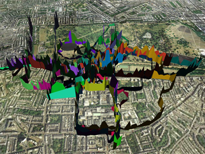 Movement and mapping in urban space