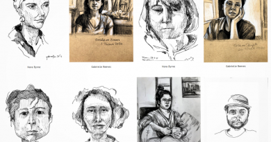 Screenshot of the created portraits